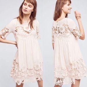 Anthropologie/Holding Horses Magnolia Peach Dress